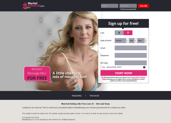 marital dating website I'm on ashleymadisoncom, the behemoth of extramarital-dating sites, whose controversial slogan is life is short have an affair® you've probably heard of it.